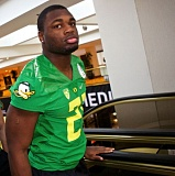 TRIBUNE FILE PHOTO: JAIME VALDEZ - Royce Freeman, Oregon Ducks running back, continues to emerge as more of a team leader, says coach Mark Helfrich.