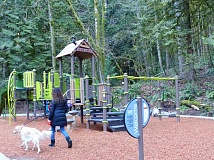 PHOTO COURTESY OF PORTLAND PARKS AND RECREATION - The new Marshall Park playground opened several months ago, and was recently dedicated in a Portland Parks and Recreation celebration.