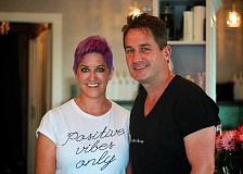 CONNECTION PHOTO: KELSEY O'HALLORAN - Beth Cates and Erik Bernsten recently opened upscale BE Salon and Spa in Hillsdale.