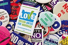 TRIBUNE PHOTO: JAIME VALDEZ - There have been more anti-gay rights ballot measures in Oregon than in any other state. That led to a battle-tested gay rights movement here that helped forge new tactics for the national movement.