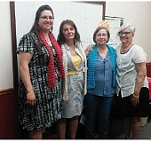 SUBMITTED PHOTO - Graduating the Jobs for Life class are Charitie Gamble, left, Linda McGuirre, and Judy Dickman, with course supporter Judy Barker.