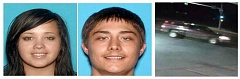 CRIMESTOPPERS - Frankie Collins (left) and Anthony Parsons are wanted for a robbery in Stayton. The stolen vehicle they were last driving is pictured right.