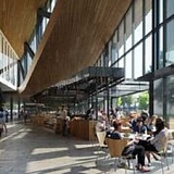 COURTESY OF HISTORIC PORTLAND PUBLIC MARKET FOUNDATION - An architectural design concept by Snohetta shows a pedestrian walkway and lots of natural light and seating inside, which can open to spill outside in good weather.