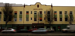 TRIBUNE FILE PHOTO - One plan to develop Old Town's Grove Hotel fell apart and a developer is suing the city of Portland for its inability to move a homeless camp across Northwest Fourth Avenue from the building.