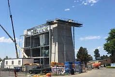 TIMES PHOTO: GEOFF PURSINGER - Wondering what the large concrete structure is taking shape near Highway 217 and Greenburg Road? It's set to become a new indoor skydiving facility called iFly. It's the first of its kind in Oregon and the second in the Northwest.