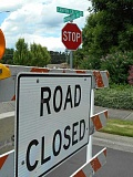PAMPLIN MEDIA GROUP: PHIL FAVORITE - Barricades and road closure signs installed at the intersection of Morningside and Canyon Creek Road, closing off access, appeared without warning two weeks ago