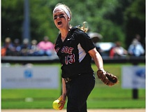 HILLSBORO TRIBUNE PHOTO: ZACK PALMER - Former Glencoe star Katie Sutherland-Finch delivers a pitch during the 2013 Class 6A state championship game against North Medford.