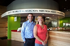 TIMES PHOTO: JAIME VALDEZ - Phil Haberthur and his wife Lisa, stand at their new location of Beaverton Baja Fresh Mexican Grill, which is located adjacent to its previous location.