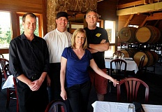 SPOKESMAN PHOTO: VERN UYETAKE - From left to right, Wine Director Donnie Hopkins, Executive Chef Steven Hazell, Manager Christine Jeffries and Executive Vice President Shawn Dionne have strived to make the Oregon Wine Garden a destination spot in the Portland metro area.
