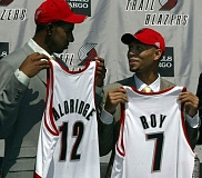 TRIBUNE FILE PHOTO: L.E. BASKOW - LaMarcus Aldridge (left) came to the Trail Blazers with Brandon Roy and left as a free agent, going to the San Antonio Spurs, saying he felt both he and Portland's front office were 'in limbo because the organization wanted to go in a different direction ... go young.'
