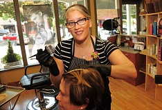 STAFF PHOTO: VERN UYETAKE - Denise Wetherell has organized the fifth annual Pamper for a Purpose event to take place Sunday at her salon, Shear Creations in Lake Oswego.