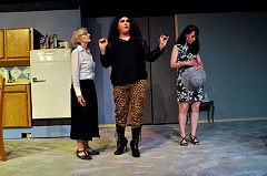 COURTESY PHOTO: MICHAEL HENLEY/CONTEMPORARY IMAGES - Kathleen Silloway, Aaron Morrow and Karlyn Weaver brought their characters to life on stage during the opening weekend of Agatha on the Rise.