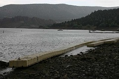 STEVE KADEL - Swimming docks at Prineville Reservoir State Park have been moved to shore due to lack of water depth.