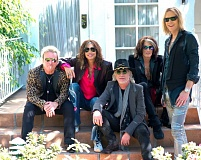 COURTESY PHOTOS: ROSS HALFIN - Formed in 1970, Aerosmith is still playing with (above, from left) bassist Tom Hamilton, drummer Joey Kramer, singer Steven Tyler, guitarist Brad Whitford, and guitarist Joe Perry. Below, Hamilton says the band seeks an emotional connection with audiences.