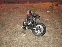 OSP - A Mulino man died when his motorcyle crashed near Maupin Tuesday night.