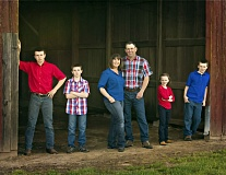 COURTESY PHOTOS - Jennifer and Joe Finegan and their four children work on the family farmland for a living. One of their properties was just granted Century Farm status by the Oregon Farm Bureau.