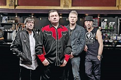 COURTESY: STIFF LITTLE FINGERS - Influential punk rocker Jake Burns (front) and Stiff Little Fingers are still singing songs of social conscience, long after the end of the Northern Ireland Troubles. Theyll perform July 24 at Hawthorne Theatre.