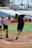 COURTESY PHOTO: BRUCE MONTGOMERY - A close call at home plate is captured during last years inaugural softball game between members of the Hillsboro Police Department and the Hillsboro Fire Department. The firefighters carried the day, 11-6, in a game sponsored by the Hillsboro Hops.