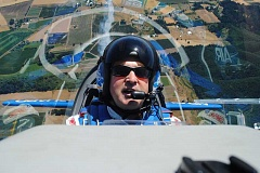HILLSBORO TRIBUNE PHOTOS: MICHAEL SPROLES - Pilot John Klatt took Michael Sproles, a summer academic intern at the News-Times and Hillsboro Tribune, on a wild ride a few days before last weekends Oregon International Air Show.
