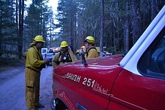 CONTRIBUTED PHOTO - Hoodland Fire crews aided in attempting to gain control of a wildfire that broke out on the afternoon of Friday, July 24.