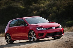 TRIBUNE PHOTO: JOHN M. VINCENT - Only massive alloy wheels make the statement that this isn't just an ordinary Golf. The Golf R features a clean design that doesn't depart significantly from mainstream Golf models.