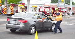 COREY BUCHANAN - A donation for the fight against Muscular Dystrophy during Fill the Boot Saturday morning.