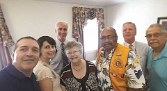 SUBMITTED - Woodburn Lions Club members gather with Dr. Scott Nehring (third from left), who has been added to the Oregon Lions Sight and Hearing Foundation's network.