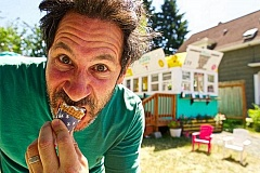 JAIME VALDEZ - Actor Randy Schulman has found great success since moving to Portland, appearing in Grimm, Leverage, and Wild - and he has now joined the Sellwood food cart culture, with Atlas Scoops.