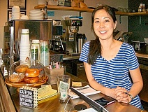 RITA A. LEONARD - Sinae Lim is one of the two owners of reFresh Coffee and Wine Bar at 2860 S.E. Gladstone Street, now open in the new Creston Lofts mixed-use building.