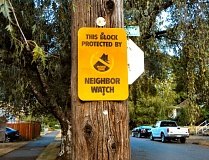 ELIZABETH USSHER GROFF - Neighbor Watch signs are available from the city for blocks that have set up a Neighborhood Watch group. Older signs were yellow; the new signs are blue.