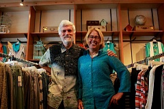 CONNECTION PHOTO: KELSEY O'HALLORAN - Mike Roach and Kim Osgood, co-owners of Paloma Clothing in Hillsdale, recently celebrated the store's 40th anniversary.