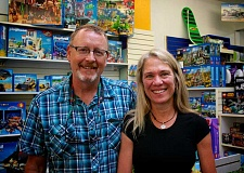 CONNECTION PHOTO: KELSEY O'HALLORAN - Tye and Joan Steinbach started Thinker Toys in Multnomah Village 20 years ago. Theyll be honored at Mulnomah Days as the parade's grand marshals.
