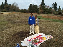 PHOTO COURTESY OF GERALD ROWLETT - Ram and Raji Krishnan traveled from Seattle last fall to perform a groundbreaking ceremony at the site of their sons new home at the Street of Dreams.