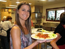 SUBMITTED PHOTO:  - Tiffany Carlson, director of the West Linn Adult Community Center, will be serving spaghetti at the annual spaghetti feed tomorrow. Dont miss out.