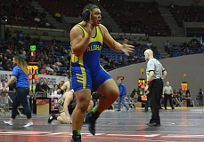 TIMES FILE PHOTO - Aloha wrestler Cortez Rodelo garnered All-American honors after placing sixth at the Greco-Roman wrestling National Championships in Fargo, North Dakota.