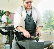 SUBMITTED PHOTO - Days of old - The historic Champoeg way of life, including a variety of crafts such as blacksmithing, will be demonstrated to visitors of the 2015 Farmstead Day, hosted by the Friends of Historic Champoeg at the end of the month.