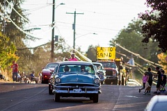 NEWS-TIMES FILE PHOTO - The parade Friday night is one of the most popular Wapato Showdown events in Gaston.
