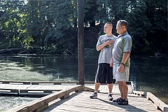 TIMES PHOTO: JONATHAN HOUSE - Ed Casuga and his son Kurtis will be participating this weekend in the Tualatin Riverkeepers paddle trip for those with disabilities.