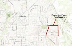 COURTESY OF OREGON DEPARTMENT OF ENVIRONMENTAL QUALITY - Here's the area where the Ken Foster Farms site is located. The area is contaminated as the result of leather hides being buried in the area from 1962 to 1971.