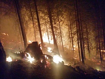 COURTESY PHOTO - Night operations at the Stouts Creek fire in Southern Oregon.