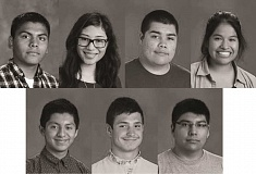 SUBMITTED - (Clockwise from top left) Daniel Vasquez Ventura, Yasmine Robles Vasquez, Pedro Morales Gonzalez, Giselle Lopez-Ixta, Angel Esquivel Alonso, Vasilisk Kornilkin and Alexis Lopez-Galicia are this year's IB diploma recipients.