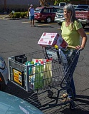 Linda Coulter was one of only two people using reusable bags during Monday afternoons shopper on the street poll.