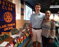 REVIEW PHOTO: JILLIAN DALEY - The Lake Oswego Rotary Club honored rising seniors George Irving of Lakeridge High School and Samarra Watson of Lake Oswego High School this week as the first recipients of the local club's scholarships for the World Affairs Seminar.