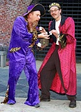 COURTESY PHOTO - Antics ensue with Pancrazio and Jeweler in Masque Alfrescos Venetian Twins. Masque Alfresco presents three free performances in Hillsboros Shute Park. 6:30 p.m., Aug. 28 and 30; and 2 p.m., Aug. 29.
