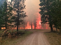 COURTESY OF OREGON DEPARTMENT OF FORESTRY - Nearly 104,000 acres have burned in the Cornet-Windy Ridge fire near Baker City.