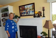 BARBARA SHERMAN - Diana Poorman has a number of her paintings on exhibit around the area but has kept a few to display on the walls of her Summerfield home.