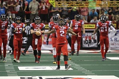 TRIBUNE FILE PHOTO - Duane Brooks celebrates his record-breaking kickoff return for the Portland Thunder.
