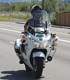 COURTESY MULTNOMAH COUNTY SHERIFF - Motorbike officers patrolled the Hood to Coast route on Highway 30 Friday giving out 88 tickets to speeders who could endanger runners' lives. There were no reports of pedestrians being hurt, although one runner was hospitalized with neck injuries. She was a passenger in a mini van which stopped suddenly and was rearended by a car.