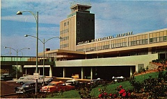 COURTESY OF PORT OF PORTLAND - Portland's airport shown on a 1950s post card. The Port of Portland is collecting memories of PDX for a 75th anniversary event.
