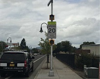 COURTESY PHOTO - A new flashing school zone light near Cornelius Elementary School will alert drivers to the busiest times, when drivers should slow down and be alert for children.